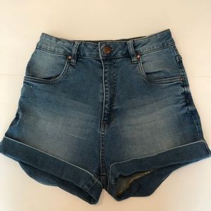 "Cotton On ""High Rise Classic Stretch Denim Short"""